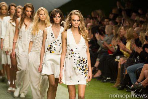 Модный показ новой коллекции Topshop в Лондоне. Весна / лето 2014