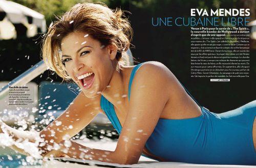 Ева Мендес в журнале Paris Match. Декабрь 2008
