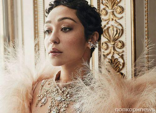 Рут Негга в роскошной фотосессии для декабрьского Harper's Bazaar