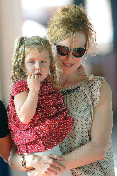 Николь Кидман с семьей в Нью-Йорке