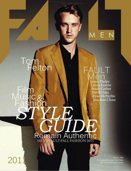 Том Фелтон в журнале Fault. Men. Октябрь 2011
