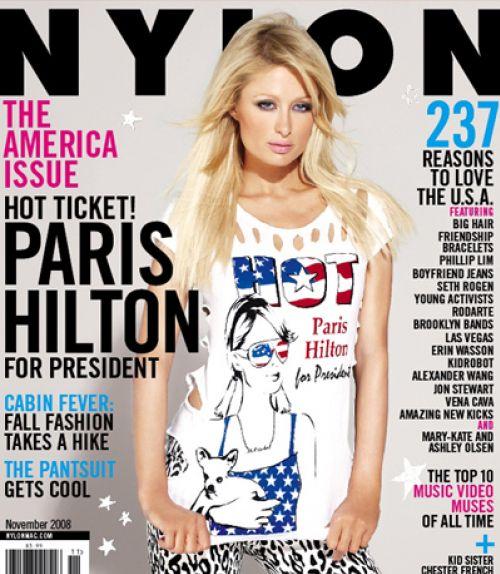 Пэрис Хилтон в журнале Nylon. Ноябрь 2008
