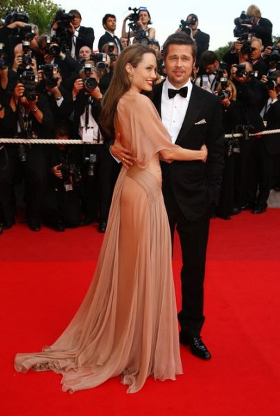 Анджелина Джоли и Брэд Питт на каннском кинофестивале