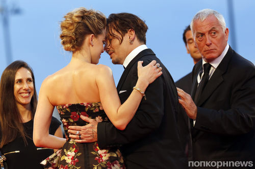 Джонни Депп и Эмбер Херд не скрывают своих чувств на премьере фильма «Девушка из Дании»