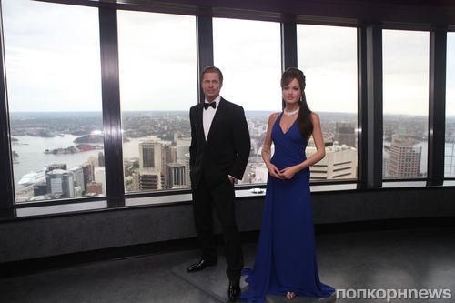 Восковые Анджелина Джоли и Брэд Питт в Сиднее