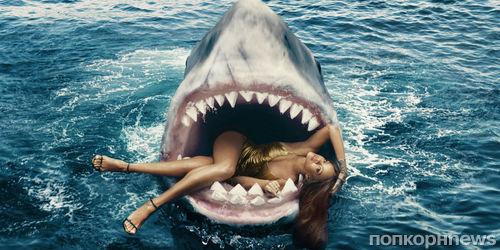 Фото Рианны в пасти акулы для Harper's Bazaar признали самой модной обложкой года