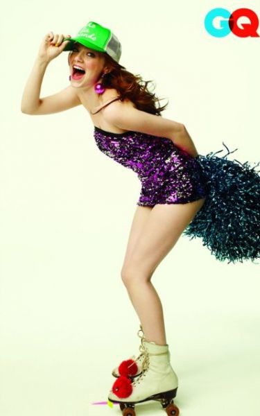 Эмма Стоун в журнале GQ. Август 2010