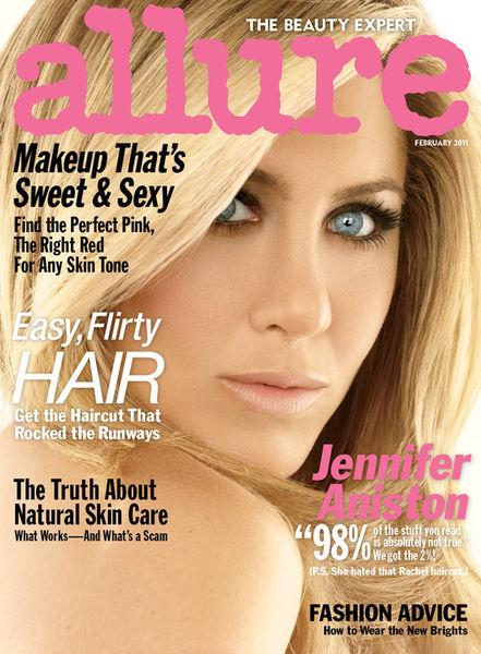 Дженнифер Энистон в журнале Allure. Февраль 2011