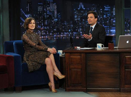 Кира Найтли на шоу Джимми Фэллона