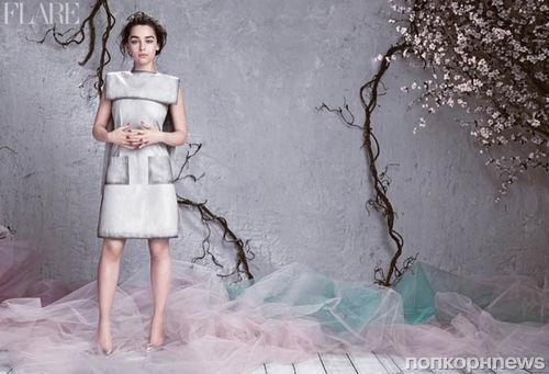 Эмилия Кларк в журнале Flare. Апрель 2014