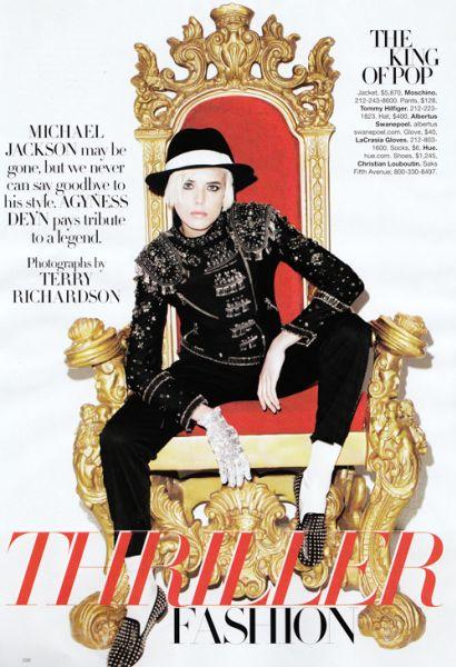 Агнесс Дин в журнале Harper`s Bazaar. Сентябрь 2009.Памяти Майкла Джексона