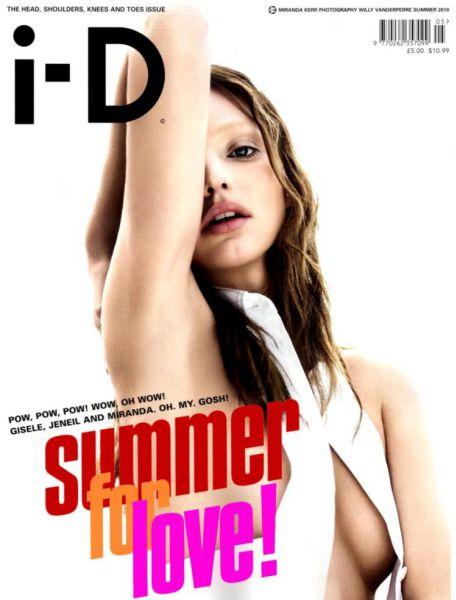 Миранда Керр в журнале i-D. Лето 2010