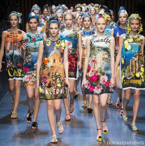 Модный показ новой коллекции  Dolce & Gabbana. Весна / лето 2016
