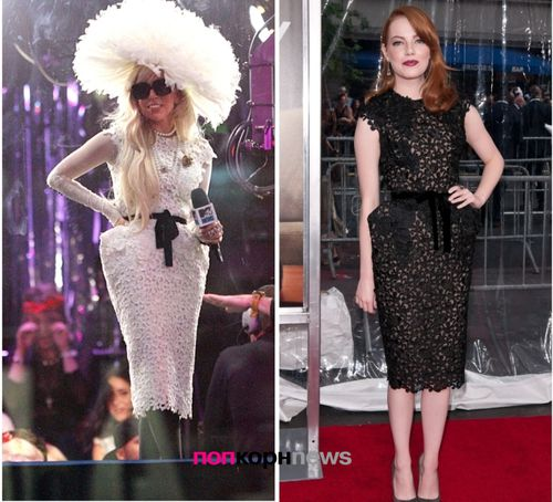 Fashion Battle: Lady GaGa и Эмма Стоун