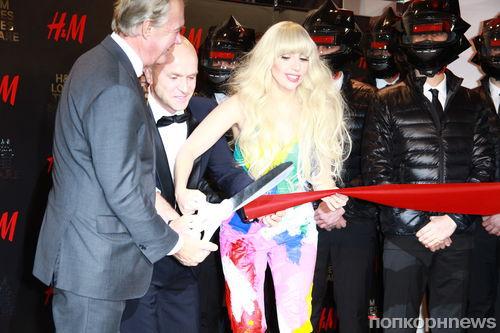Lady GaGa на открытии магазина H&M
