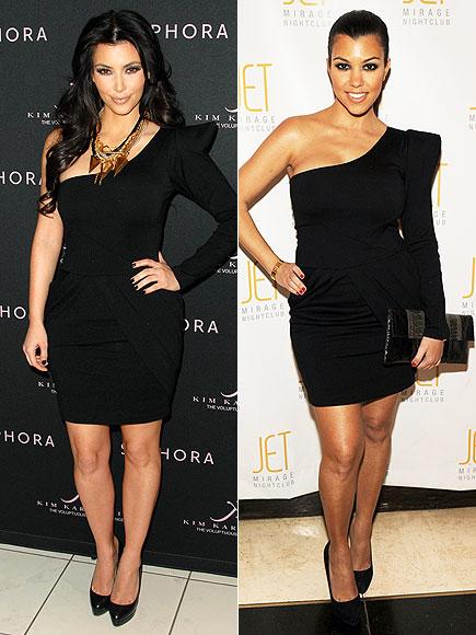 Fashion battle: Ким Кардашиан и Кортни Кардашиан
