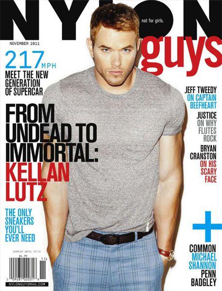 Келлан Латс в журнале Nylon Guys. Ноябрь 2011
