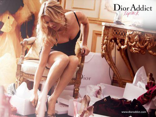 Кейт Мосс в рекламной кампании Dior Addict