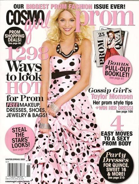 Тэйлор Момсем в журнале CosmoGirl. Январь 2009