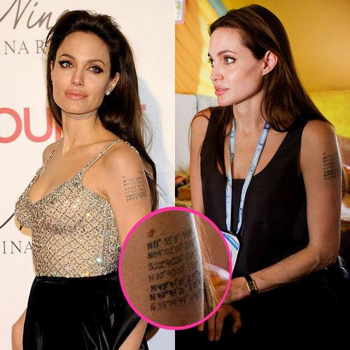 Новая загадочная татуировка Анджелины Джоли