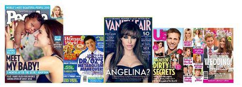 Самые продаваемые журналы и таблоиды со знаменитостями на обложке 2010