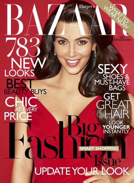 Ким Кардашиан в журнале Harper's Bazaar. Март 2011