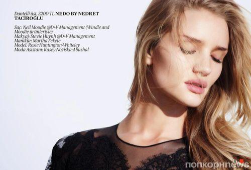Роузи Хантингтон-Уайтли в журнале Vogue Турция. Август 2014