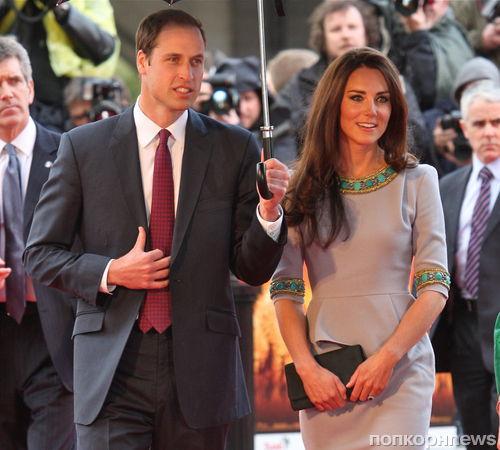 Принц Уильям и Кейт Миддлтон на премьере фильма «Африканские кошки: Королевство смелости» в Лондоне