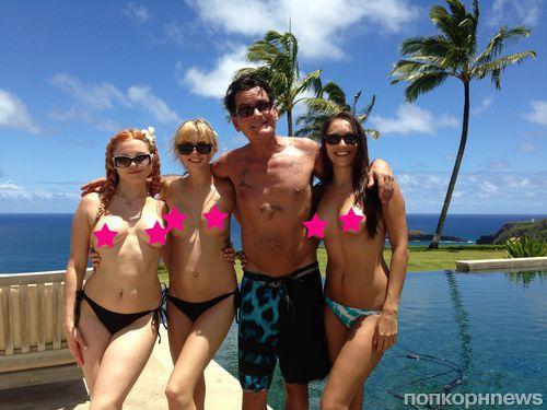 Веселые каникулы: Чарли Шин в компании порно-звезд на Гавайях