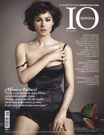 Моника Беллуччи в Io Donna Magazine. Италия. Август 2010