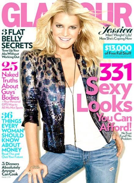 Джессика Симпсон  в журнале Glamour. США. Сентябрь 2009