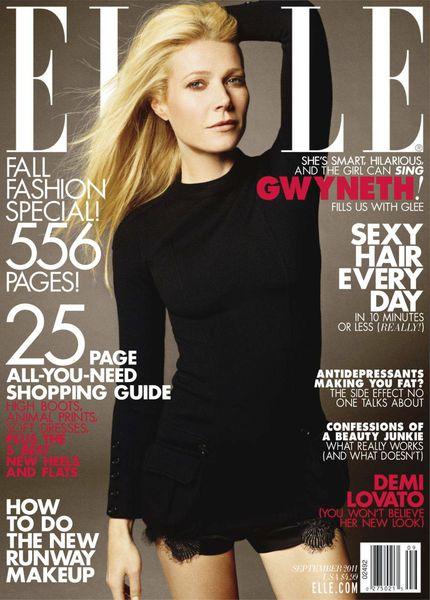 Гвинет Пэлтроу в журнале Elle. Сентябрь 2011