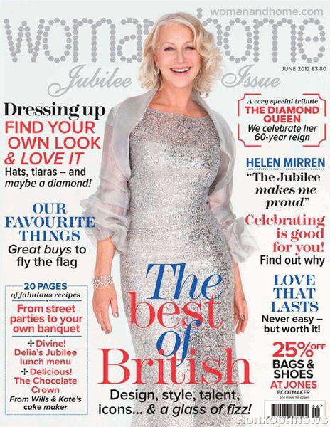 Хелен Миррен в журнале Woman & Home. Июнь 2012