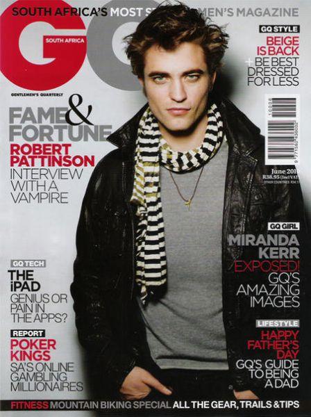Роберт Паттинсон в журнале GQ. South Africa. Июнь 2010