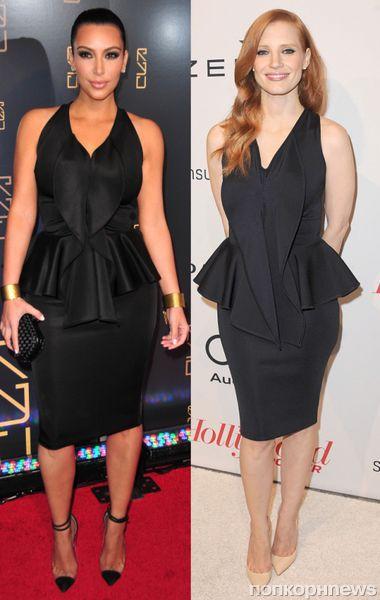 Fashion battle: Ким Кардашян и Джессика Честейн