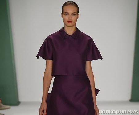 Модный показ новой коллекции Carolina Herrera. Весна / лето 2015