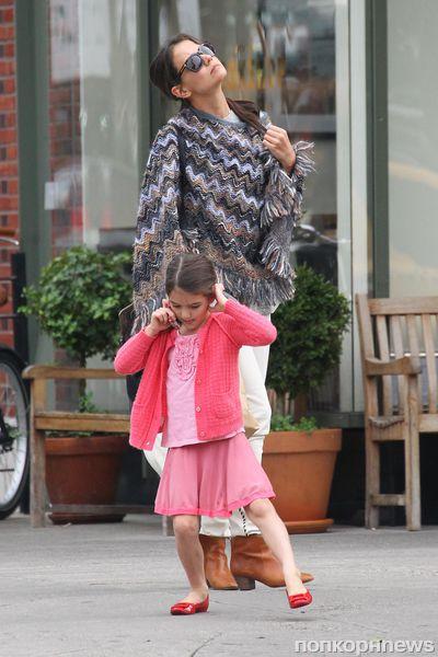 Кэти Холмс и Сури в Нью-Йорке