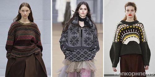 Модные женские свитера осень-зима 2017-2018: фото