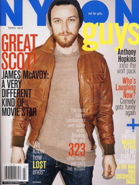 Джеймс МакЭвой в журнале Nylon Guys. Март 2010