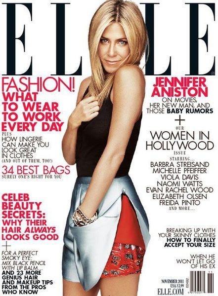 Дженнифер Энистон в журнале Elle US. Ноябрь 2011