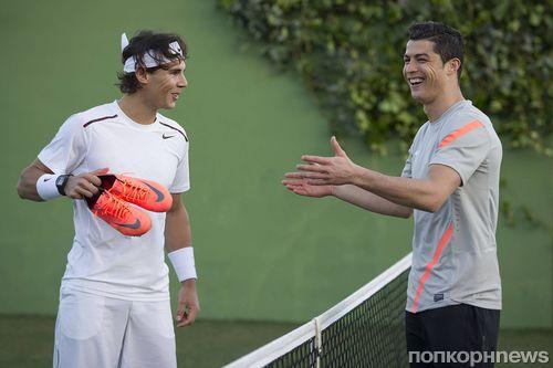 Криштиану Роналду и Рафаэль Надаль в рекламном ролике Nike