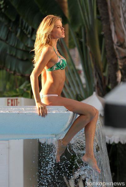 Даутцен Крез и Кэндис Свэйнпоул на фотосессии для Victorias Secret