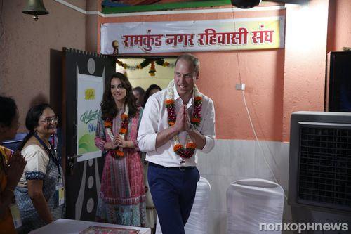 Фото: Кейт Миддлтон и принц Уильям прибыли с визитом в Индию