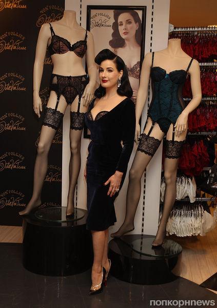 Дита фон Тиз представила свою линию белья в Лондоне