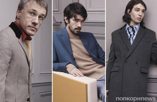 Бен Уишоу, Кристофер Вальц и Эзр Миллер в рекламной кампании PRADA