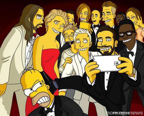 Почему на фото с Оскара Эллен ДеДженерес нет Гомера Симпсона?