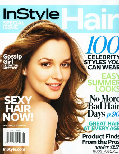 Лейтон Мистер в журнале Instyle Hair. Весна 2009