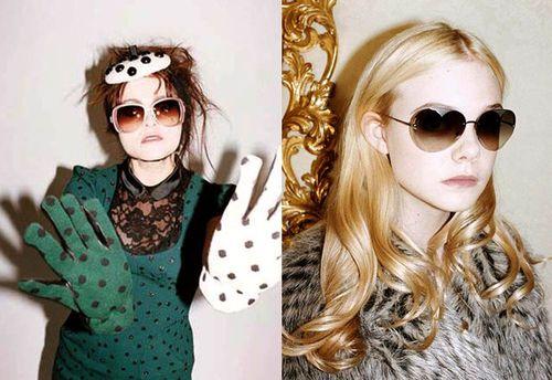 Хелена Бонэм Картер и Элль Фаннинг в рекламной кампании Marc Jacobs