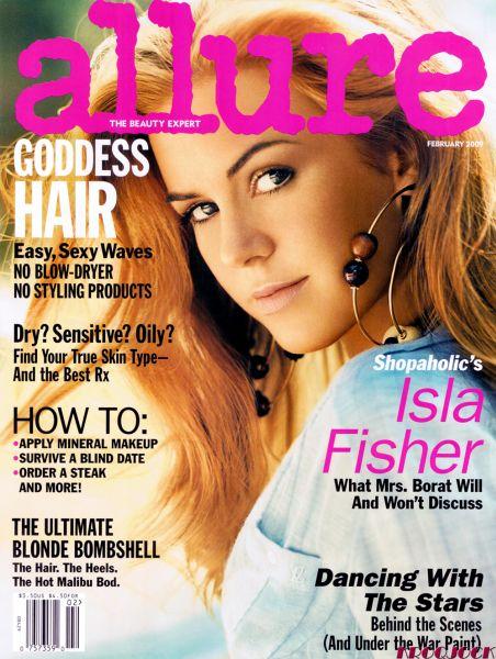 Айла Фишер в журнале Allure. Февраль 2009