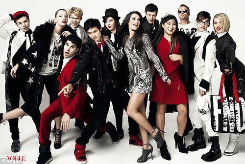 Стильные герои сериала «Хор» в журнале Vogue. Сентябрь 2011